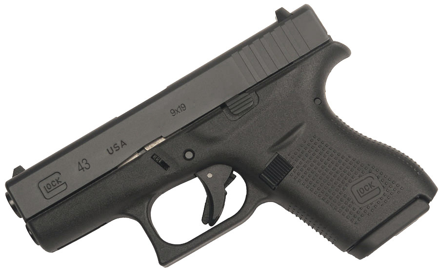 An image of a hypothetical Glock 43 we created for an article from 2014.