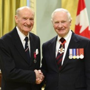 Peter Moody (left) with Governor General David Johnston.