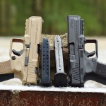 The Canik TP9SA is currently available from Century Arms in desert tan and black.