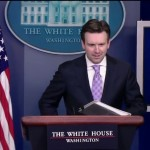 White House press secretary Josh Earnest addressed the press on Monday concerning global and domestic issues, including the possible ban on a common type of ammunition.