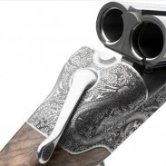 A close-up view of Marc Newson's Beretta 486.