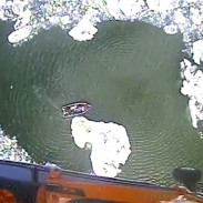 One Coast Guard aircrew used the wind from their helicopter blades to blow a path into the ice for a trapped boat.