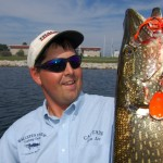 Little Bay de Noc fishing guide Kenny Lee loves pike fishing with spinnerbaits.