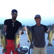 Paul George (left) and Jacob Wheeler (right) with their tournament winning fish.