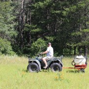 Killing off the existing weed cover is the first step in planting a food plot. It can be done with a hand sprayer or more quickly by renting an ATV sprayer.