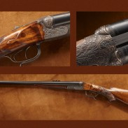 Both the NRA National Firearms Museum and the NRA National Sporting Arms Museum have several firearms that formerly belonged to Theodore Roosevelt in their collections, like this .450 double rifle.