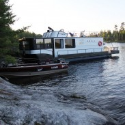 """The combination of a """"floating lodge"""" and a fishing boat make a luxurious fishing vacation."""
