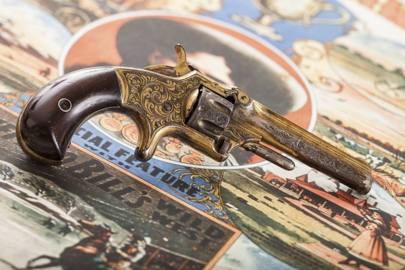 Annie Oakley's seven-shot Smith & Wesson Model 1 revolver from the National Sporting Arms Museum.