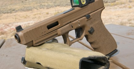 The Salient Arms Glock 41 equipped with a Trijicon Dual-Illumination RMR that the author used for part of his testing.