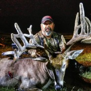 Buddy Deville with his colossal velvet buck.