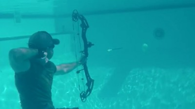 Video Too Hot Outside Give Underwater Archery a Try
