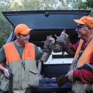 Chris Stewart and his father Al compare birds taken near Gladwin.