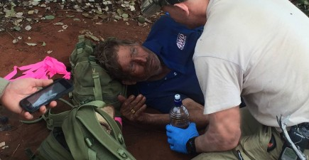 Reg Foggerdy was found on the edge of the largest desert in Australia after being declared missing last week.