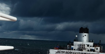 A small waterspout outbreak occurred over the Great Lakes earlier this month.