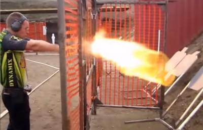 Video Using 50 Caliber Guns at a USPSA Match