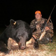 Will's bear has a big head and Will's smile shows how important it was to him and to others to shoot this bear.