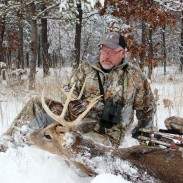 The author is a big fan of using a pop-up ground blind to protect him during harsh winter conditions, and has had many successful hunts using them.