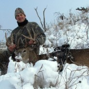 Harsh conditions didn't stop Eric Miller from braving the cold in South Dakota. He was rewarded with this great buck. Image courtesy of Eric Miller.