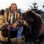 Dan Haggerty, who played hunter and bear trainer Grizzly Adams, passed away at 74.  Beside him in this picture is Bozo the bear, also known as Ben.