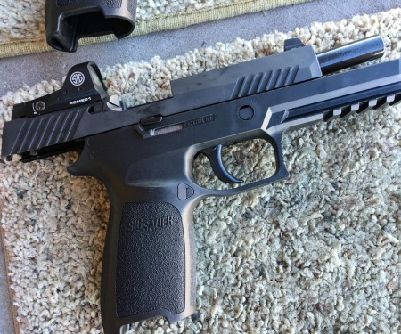 A new Sig Sauer P320 RX with Romeo 1 optical sight.