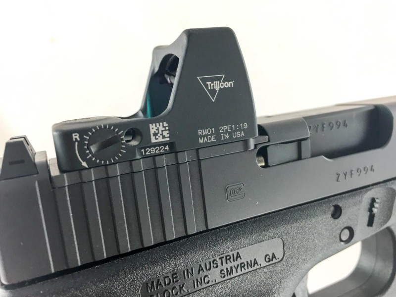 The new Glock 19 MOS with a Trijicon RMR installed.