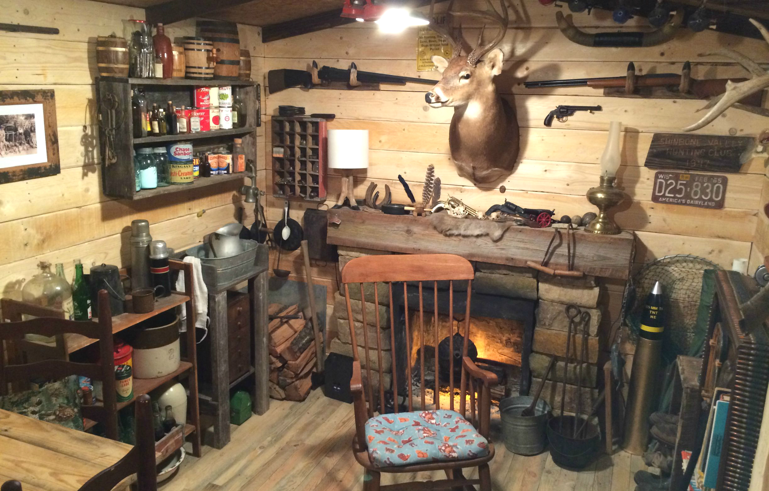 Man Cave Builders : How to build a hunter s man cave for in steps