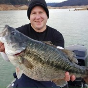Wes Roberts with a possible world record spotted bass.