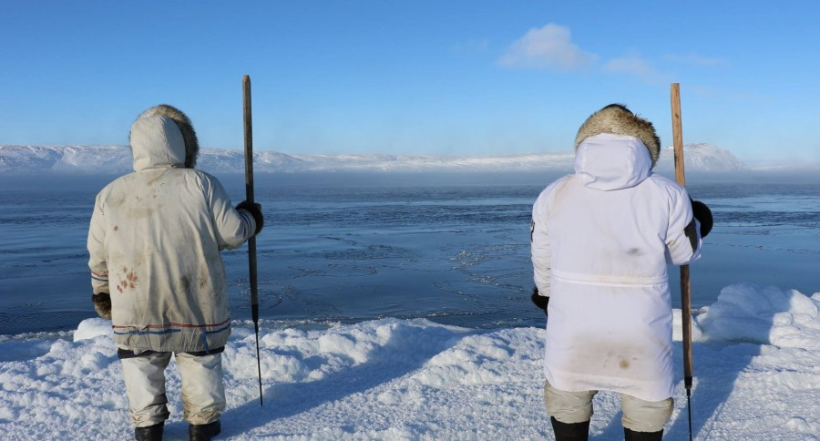 Subsistence hunter skins fox for pants to survive frigid for Hudson bay fishing