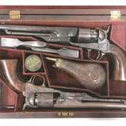 These two Colt Army and Navy Revolvers were part of the three antique guns stolen from the National Civil War Museum.