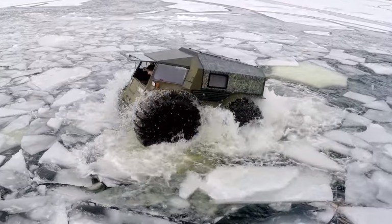 Video Super-powered Russian ATV That Can Walk Across Broken Ice