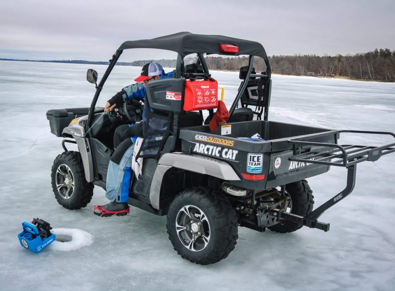 Nodak angler modern gear for the mobile ice angler for Atv ice fishing accessories