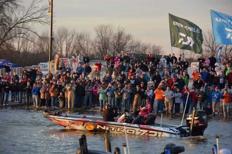 GEICO Bassmaster Classic underway on Lake Conroe