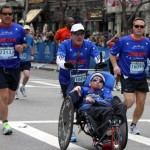 Father, Dick Hoyt, and son, Rick, have competed in over 1,100 athletic events, with 31 of them being Boston Marathons.
