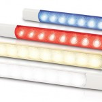 Hella marine's new 0881 series of LED interior and courtesy strip lamps.