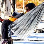 Turn any campout into a party with Betabrand's disco hammock.