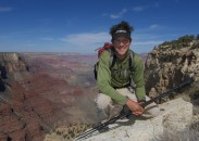 Adventurer Andrew Skurka on a hike in Grand Canyon National Park.
