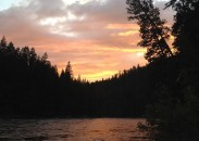 Sunset on the Clearwater River, Idaho.