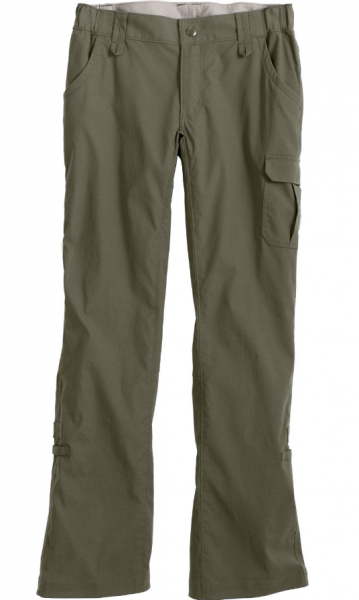 Duluth Trading Company's DuluthFlex Dry on the Fly Convertible Pants in Vintage Olive.