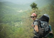 Mallory Brown hiking a portion of the Appalachian Trail.