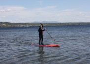 Burlington's North Beach in Lake Champlain is a fine spot for paddleboarding.