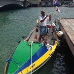 Victor Mooney and his boat, Spirit of Malabo.