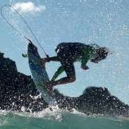 The footage features surfers such as Clay Marzo and Kelly Slater.