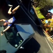 Cyclist Paul Ludlow caught his own crash on video thanks to a bike-mounted camera.
