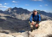 Andrew Skurka taking a break in Yosemite National Park, California.