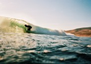 Nathan Garrison surfing on California's central coast.