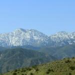 The San Gabriel Mountains viewed from Cajon Pass.