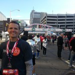 Brian Flemming in Detroit for the Detroit-Windsor International Marathon.