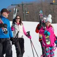 January is filled with learn to ski and snowboard deals for beginners. Image courtesy of Bromley Mountain/Ski Vermont.