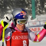 Lindsey Vonn returned to racing and took part in an all-American podium finish. Image courtesy of Tom Kelly/U.S. Ski Team.