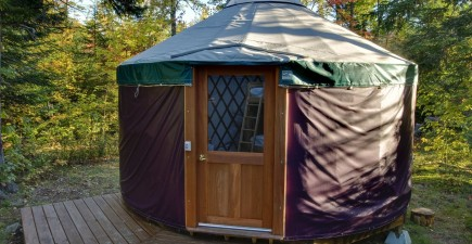 A yurt at Milan Hill State Park in Milan, New Hampshire. Image courtesy of NH Division of Parks and Recreation.